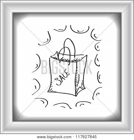 Simple Doodle Of A Sale Bag