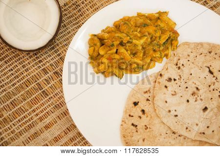 Tender Coconut And Cashew Sukke Is A Vegetarian Dish From Goa, India.