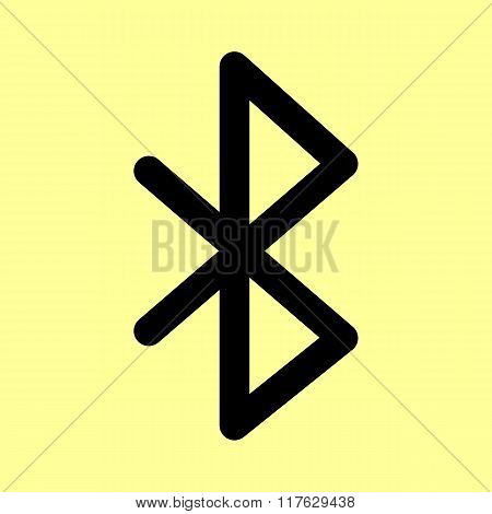 Bluetooth sign. Flat style icon