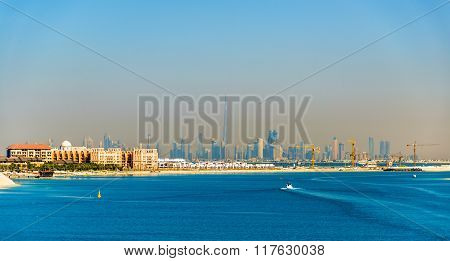 View Of Dubai Downtown From Palm Jumeirah Island