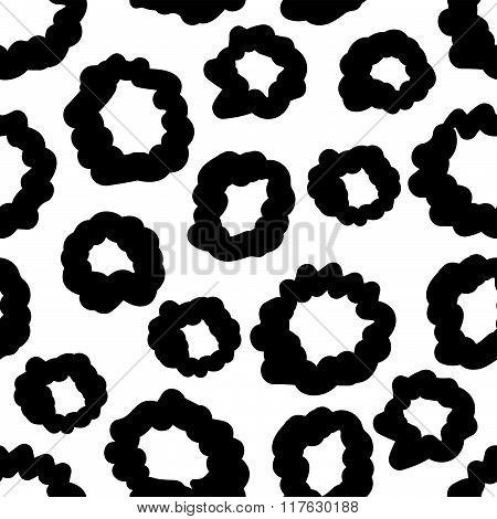 Vector Hand-painted Seamless Pattern With Circles, Bubble, Doodle