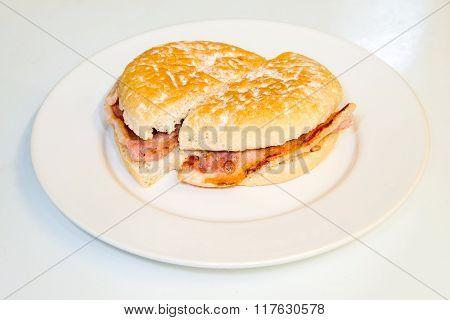 Bacon in a bun