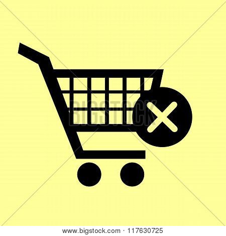 Shopping Cart and X Mark Icon