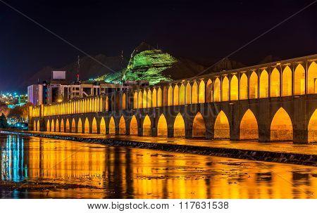 Allahverdi Khan Bridge (si-o-seh Pol) In Isfahan, Iran