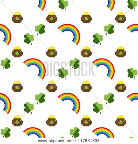 Set Of St. Patrick Day Seamless Patterns Perfect For