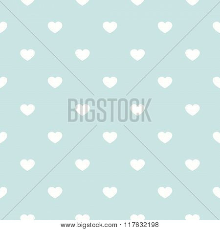 Cute Retro Abstract Heart Seamless Pattern