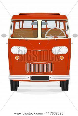 Retro Cartoon Van