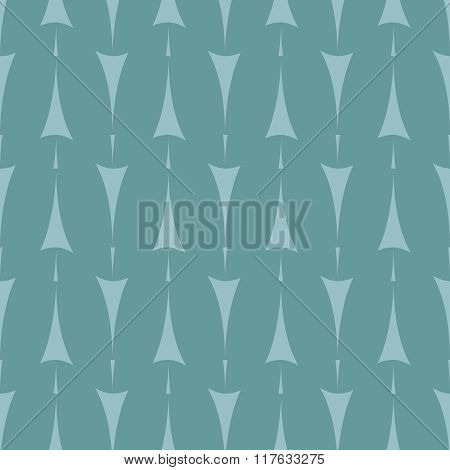Tile pattern with arrow print on mint green background
