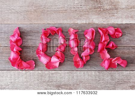 Words made out of petals