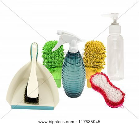 Variety of cleaning supplies