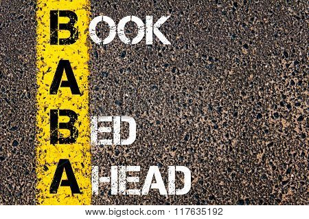 Business Acronym Baba Book A Bed Ahead
