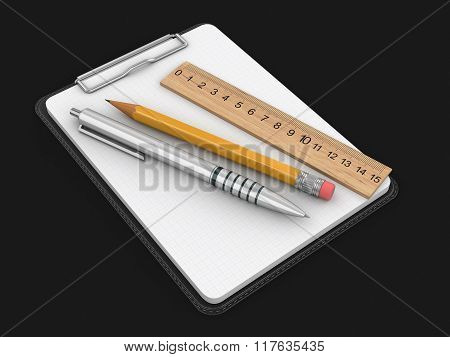 Clipboard. Image with clipping path