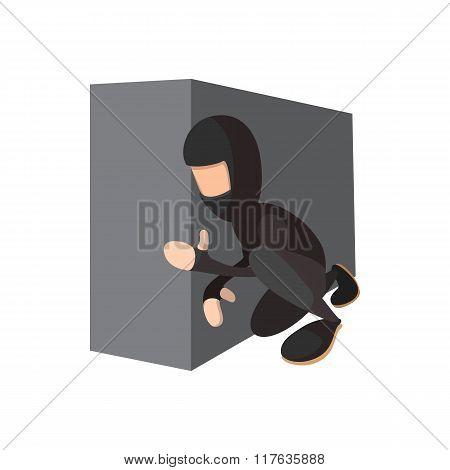 Ninja hiding the wall icon