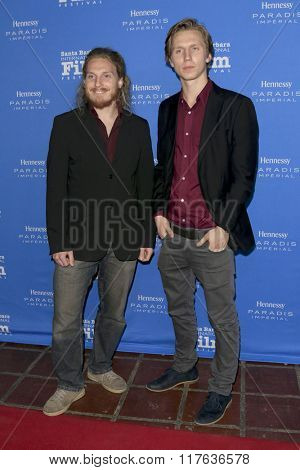 SANTA BARBARA - FEB 9:  Adam Stumle, Martin Risberg at the 31st Santa Barbara International Film Festival Montecito Award at the Arlington Theatre on February 9, 2016 in Santa Barbara, CA
