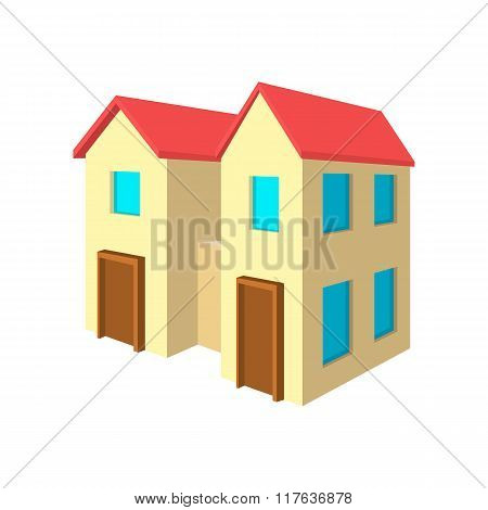 House for two families cartoon icon
