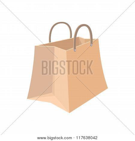 Paper shopping bag cartoon icon