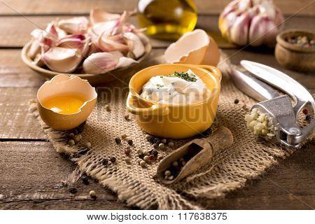 Portion Of Garlic Dip