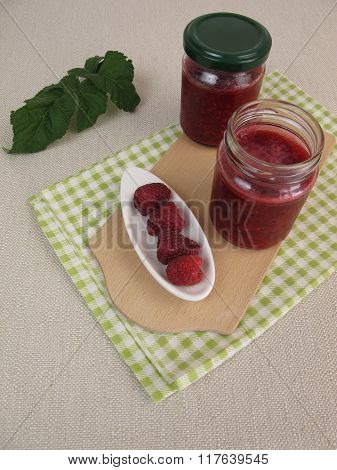 Vegan raspberry jam