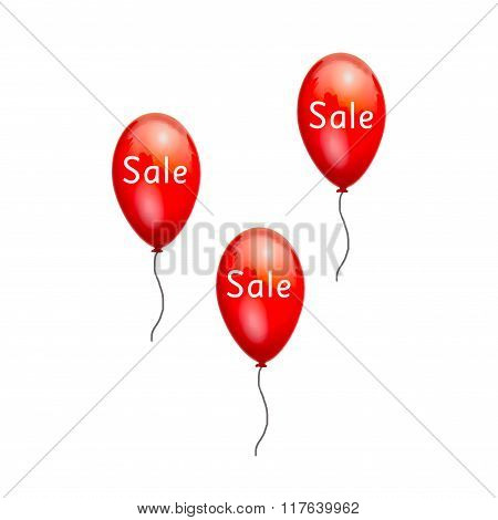 Fun balloons advertising the sale at low prices.