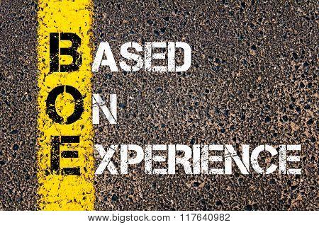 Business Acronym Boe Based On Experience