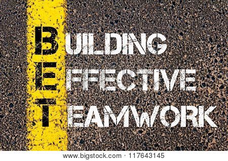 Business Acronym Bet Building Effective Teamwork