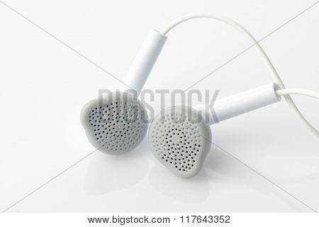 White Headset Shot in Studio
