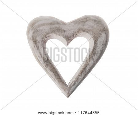 Isolated wooden hart