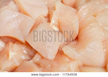 Chunks Of Cut Chicken