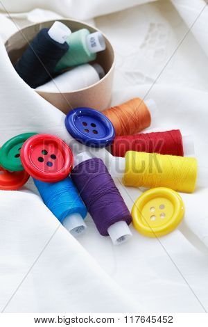 Sewing Item On White