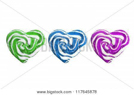 Lollipops heart shaped