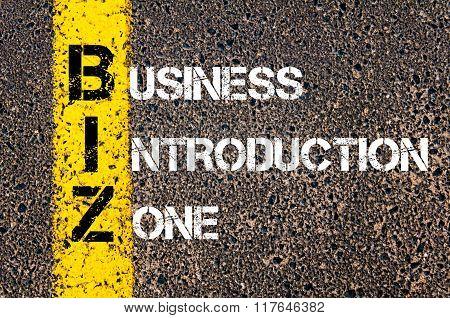 Business Acronym Biz Business Introduction Zone