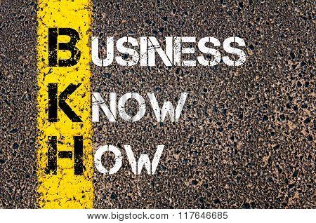 Business Acronym Bkh Business Know-how