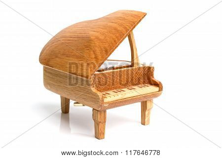 Piano Music Box Isolated On White Background