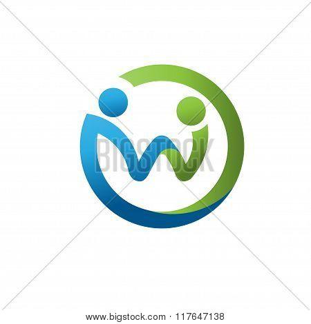 letter W social network