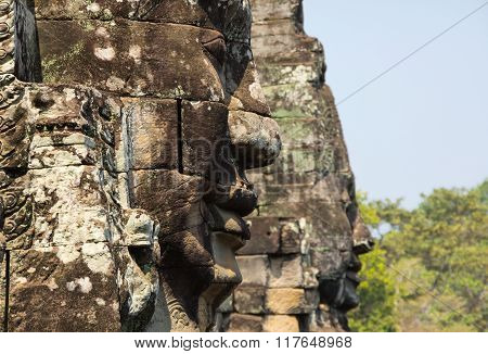 Buddha Faces Of Bayon Temple
