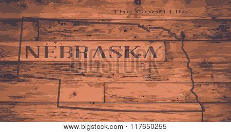Nebraska Map Brand