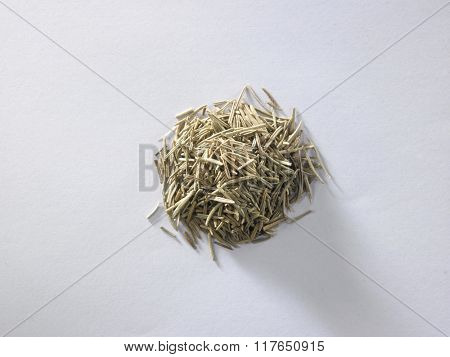 top view of dry rosemary