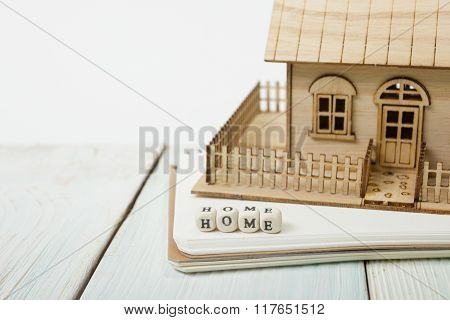 Wooden blocks spelling the word Home