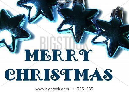 Chrismas ornament in star shape of blue colour