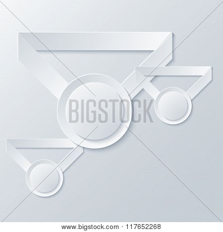 Vector modern award light background.
