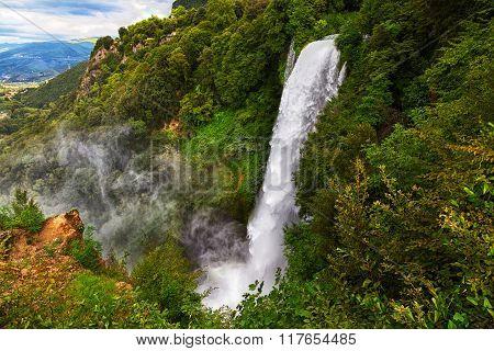 Waterfall Cascata Delle Marmore Terni, Umbria, Italy