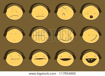 Set Of Various Emotions.