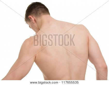 Male Back Body Fitness Anatomy Concept