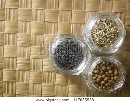 top view of assorted spices