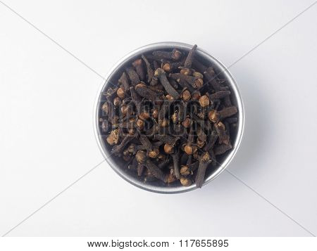 top view of the clove in a aluminum container