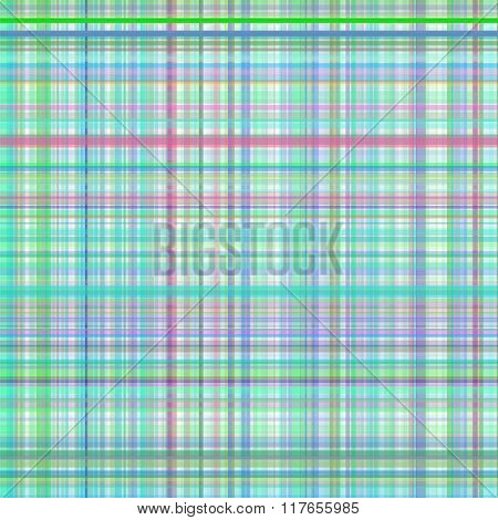 Pastel green and blue multicolored stripes plaid