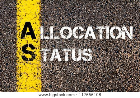 Business Acronym As Allocation Status