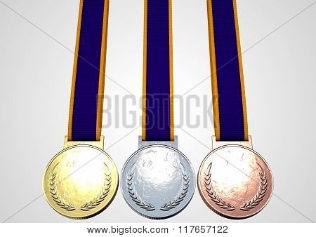 First Second And Third Medals