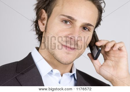 Man And Cellphone