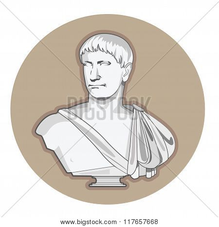 Antiquity Roman sculpture. Vector.